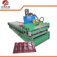 China Glazed Tile Roofing Profile Rolling Making Machinery Roll Forming Machine 808 on sale