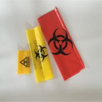 Cheap Red Yellow  HDPE Biohazard medical autoclave waste bags for hospital and laboratory for sale