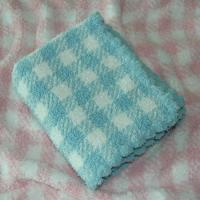 Cheap fluffy Woven micro fibre Polyester Baby Blanket With Classic Crocheting Edge Design for sale