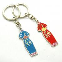 Cheap Metal Custom Shaped Keychains Solid Material Any Size Die Casting Process for sale