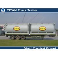 Cheap Professional Cement Trailer Cement Powder Container Tank With 20m3 / 40m3 Capacity for sale