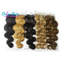 Buy cheap Grade 7A Body Wave Indian Remy Micro Loop Hair Extensions With Tangle Free from wholesalers
