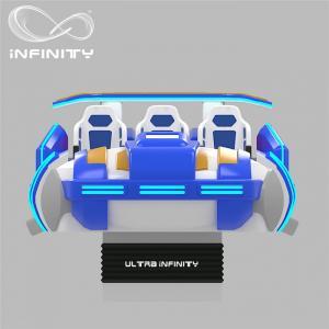 Cheap Multi - Player 9D Virtual Reality Cinema Motion Simulator Logo Customization for sale