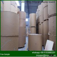 China recycle Pulp Pulp Material 250g 300gsm 350gram coated duplex board with grey back on sale