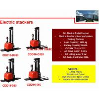 Cheap 1.6T 280Ah Electric Pallet Stacker With 4500mm Standard Lift Height And Wide Legs for sale