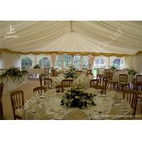Cheap White Fabric Cover Aluminum Profile Luxury Wedding Tents With Milk White Roof Lining for sale