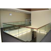 Cheap Modern design aluminum u base channel glass railing for stairwell/ decking use for sale