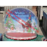 Cheap xmas inflatable snow globe for sale