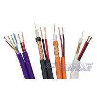Cheap RG59/U CCTV Coaxial Cable 95% BC Braid with BC Power , Siamese CMR Rated Cable for sale