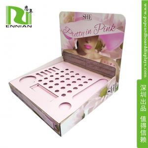 Buy cheap Mascara POP Cardboard Displays Counter Lip Gloss Display Rack from wholesalers