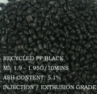 China Recycle PP Black Granules on sale