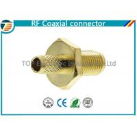 Cheap Female Bulkhead Coaxial Connector  50 Ohms for 1.13mm / 1.32mm / 1.37mm Cable for sale
