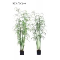 China Multi Stems Artificial Hanging Fern Plants 360 Degree Viewing UV Resistance on sale