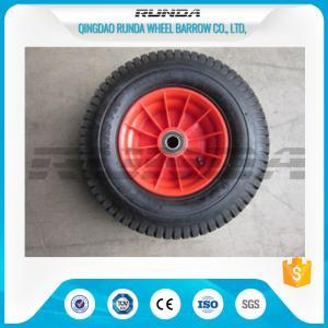 Cheap PP Rim Heavy Duty Rubber Wheels Red Color , 2PR All Terrain Caster Wheels OEM for sale