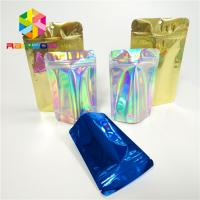 China Laminated Holographic Laser 3d Display Bags Hologram Heat Transfer Vinyl Pouch on sale