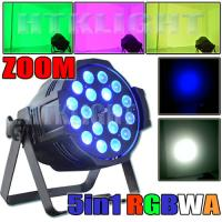 Cheap 50Hz Zoom LED Stage Spotlights 18x15 Watt RGBWA For Event , Theatre for sale