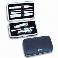 Cheap Stainless Steel Manicure Set, OEM Orders are Welcome, Ideal for Travelling and Promotional Gifts for sale