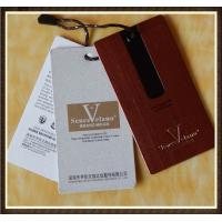 Cheap CMYK Printing Paper Custom Clothing Hang Tags , Full Color Waterproof Label for sale