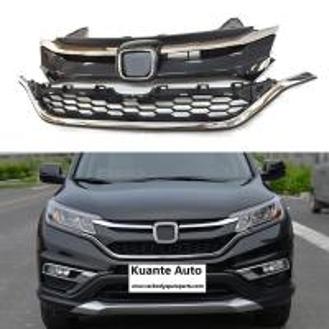 Cheap Upper + Lower Chrome Front and Bumper Grille Set For Honda CRV CR-V 2015-2016 for sale