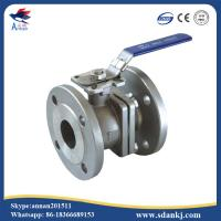 Cheap 2 Pcs Flange connection type Stainless Steel Ball Valve for hot water WCB DN50 PN16 ANSI DIN JIS for sale