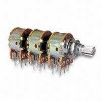 Cheap Rotary Potentiometer with 0.2 to 2Ncm Torque and 100V DC Withstand Voltage, RoHS Directive-compliant for sale