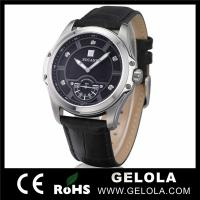 Cheap Watch With Crystal Leather Strap for sale