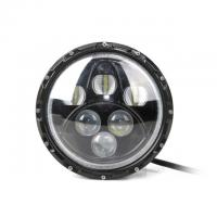 Buy cheap Angel Eyes 7Inch 60W LED Work Light High-Low Beam Car Headlamp Daytime Driving Light for Jeep Wrangler from wholesalers
