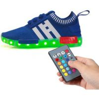 Mesh Tenis Trainer Remote Control LED Shoes Full Size Low Top Flyknit For Kids