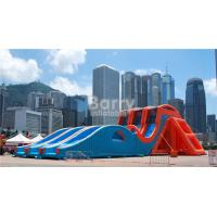 Cheap Custom Made Giant Inflatable Drop Kick Water Slide For Adults / Teenagers for sale