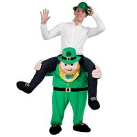 Cheap Carry Me Ride On Adults Shoulder Ride Costume Leprechaun Piggy Back Costume for sale