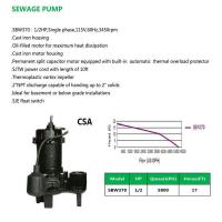 Cheap SEWAGE PUMP SBW370 for sale