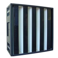Buy cheap Clean Room SUS Frame Plastic V Cell Terminal HEPA Filter Easy To Handle HVAC from wholesalers