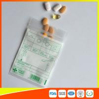 Cheap Tablet Drug Packaging Ziplock Pill Bags , Medicine Plastic Bag With Zip Seal for sale