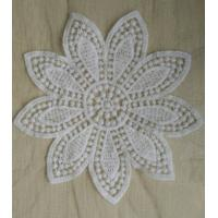 Cheap Mesh Flower Qmilch Decorative Lace Trim With Small Size , White for sale