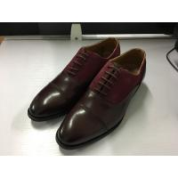 China Smart Formal Mens Leather Dress Shoes Goodyear Welted Made - To - Order on sale
