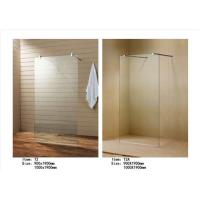 Quality Easy Install Walk In Shower Screen , Frameless Glass Shower Screen With Support Bar wholesale