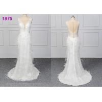 China Strapless Luxury A Line Ball Gown Wedding Dress , White Ball Gown Dress on sale