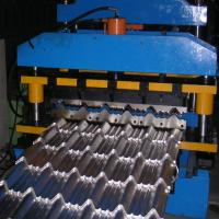 Cheap 8-12m / Min Roof Panel Roll Forming Machine , Metal Glazed Tile Forming Machine for sale