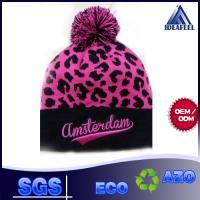 Cheap Cool Unisex Winter Knit Pom Pom Beanie 100% Acrylic / Wool Fabric Available for sale
