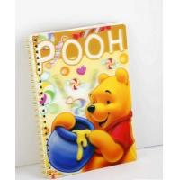 Cheap OK3D Manufacture High Quality Customized 3d lenticular notebook cover printing service with pp pet book cover for sale