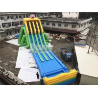 Cheap Commercial Grade 4 Lanes Wet Giant Inflatable Water Slide For Big Event for sale