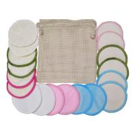 Cheap Multi Functional Bamboo Reusable Makeup Pads , Soft Facial Make Up Remover for sale