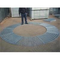Cheap Circular Sector Welded Steel Grating / Steel Catwalk Grating For Trees Protection wholesale