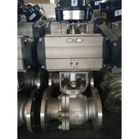 Buy cheap 2PC Floating Type, Stainless Steel Pneumatic Actuator Flanged Ball Valve from wholesalers