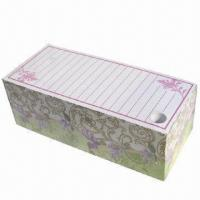 China Memo cube/paper block/cube with 4 side printing, pouched and pen holder, measures 7x16.5x5.5cm on sale