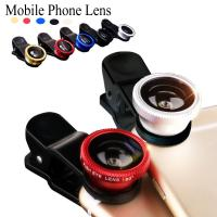 Cheap Universal clip on phone 3in1 lenses for Moblie Smart Phones 3 in 1 FishEye Wide Angle Macro Lens For iPhone For XIAO MI for sale