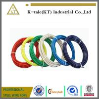 Buy cheap 6mm clear PVC plastic coated galvanized steel wire rope boat PRICE PER METER from wholesalers