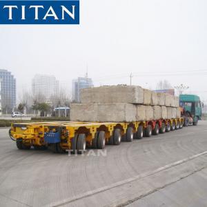 Cheap TITAN heavy truck trailer 12 axle modular hydraulic trailer with tow bar for sale