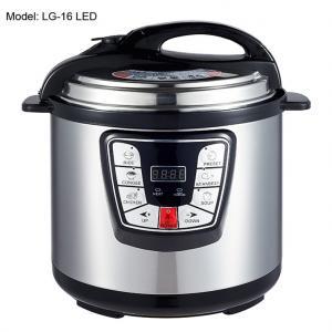 Cheap Adjustable 6L Digital Pressure Cooker , Kitchen Pressure Cooker Progrommable for sale