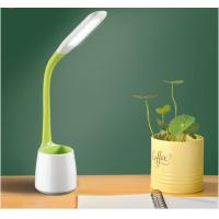 China 5W study led desk lamp , kids dimmable led table lamp with pen holder, desk reading light for students on sale